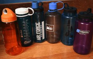Hot water bottle for sleeping bag